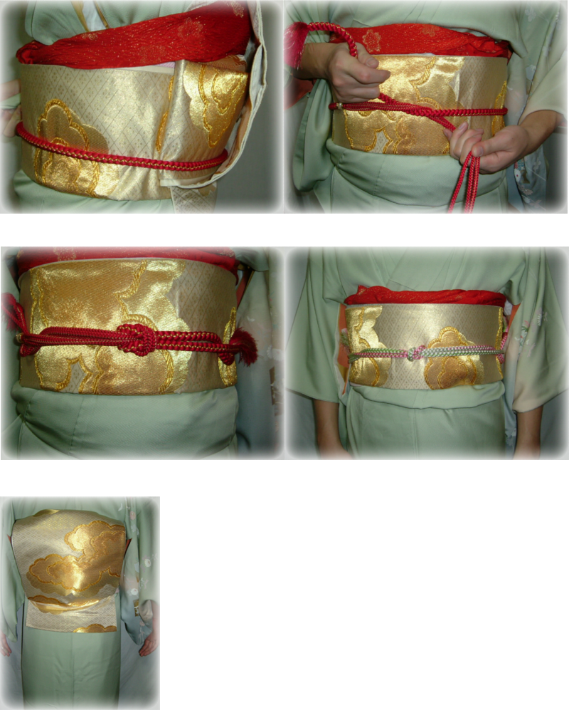 Taiko Musubi, how to tie an obi 14