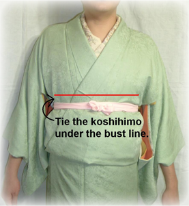 How to tie an obi 1